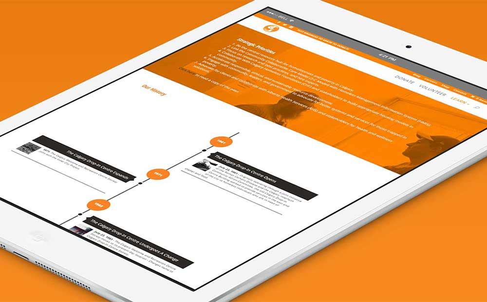 website design, tablet