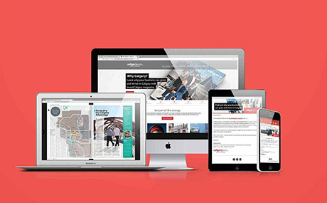 InvestCalgary magazine digital campaign